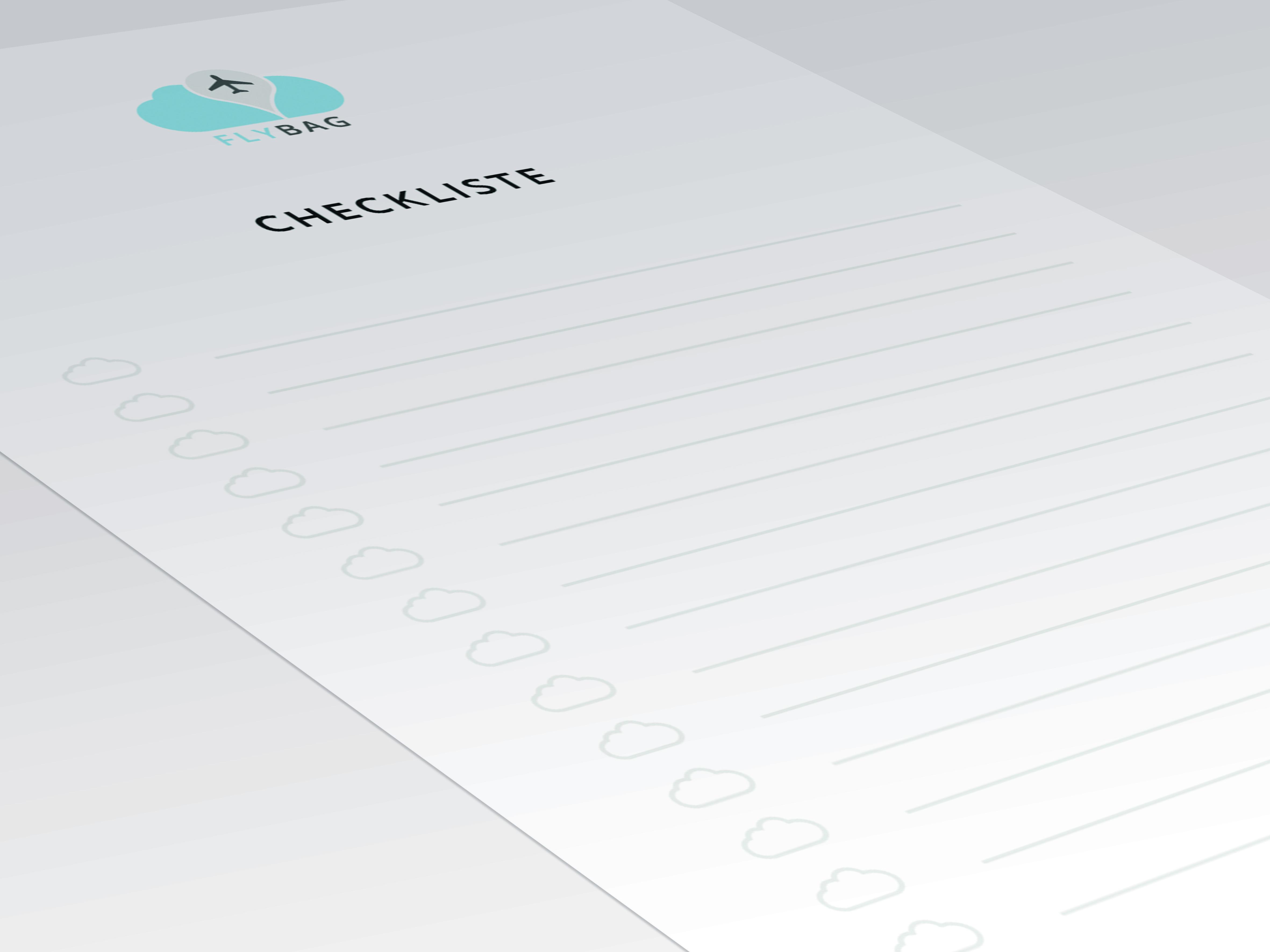 Reiseset Checklist