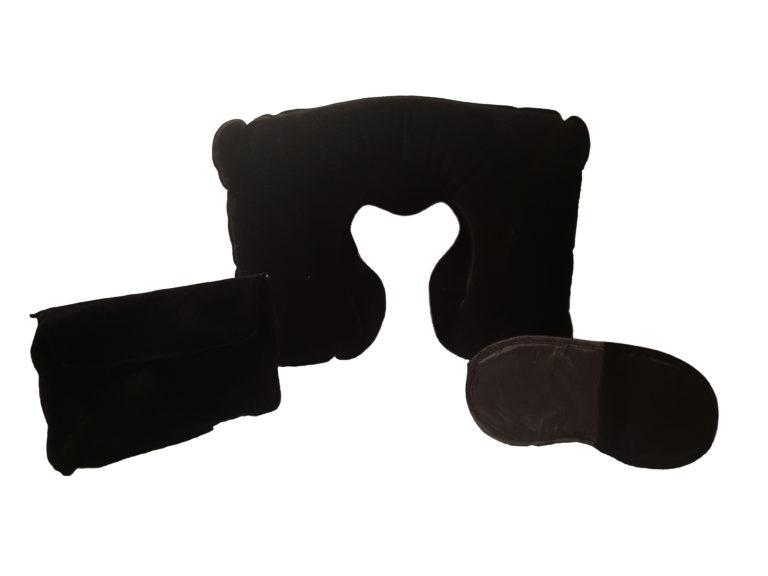 Nackenkissen/Schlafmaske und Ohropax